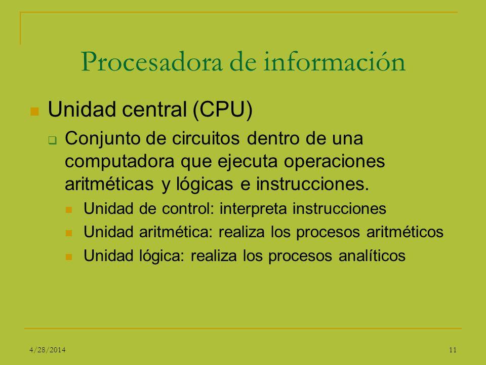 Procesadora de información