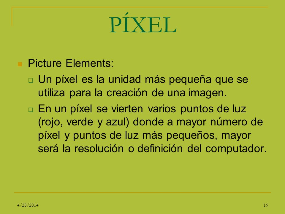 PÍXEL Picture Elements: