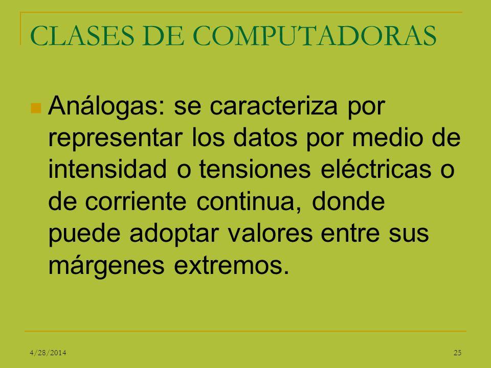 CLASES DE COMPUTADORAS