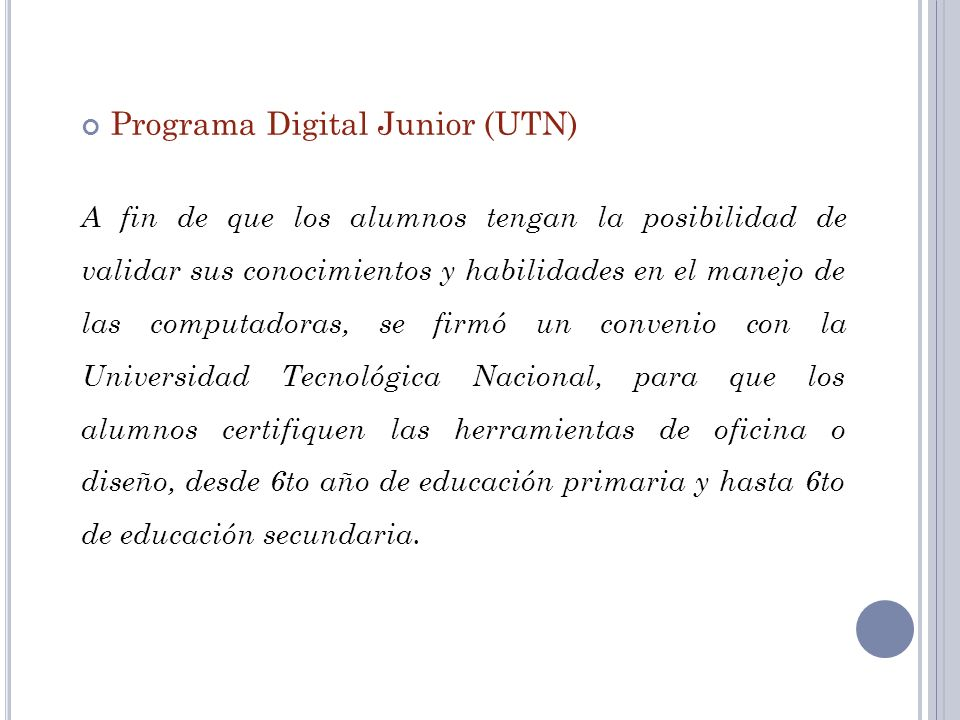 Programa Digital Junior (UTN)