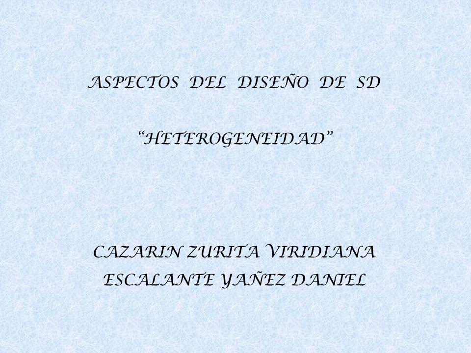 ASPECTOS DEL DISEÑO DE SD