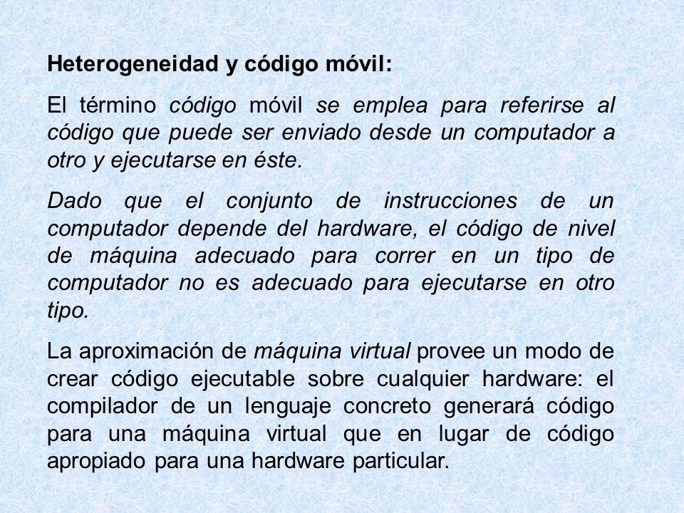Heterogeneidad y código móvil: