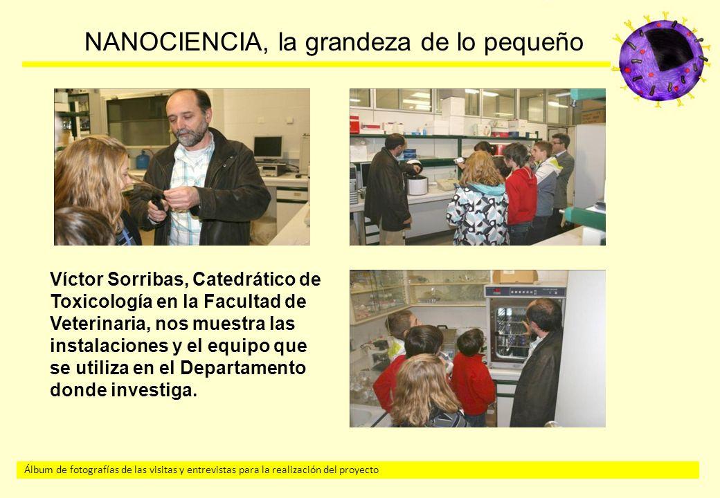 Víctor Sorribas, Catedrático de Toxicología en la Facultad de Veterinaria, nos muestra las instalaciones y el equipo que se utiliza en el Departamento donde investiga.
