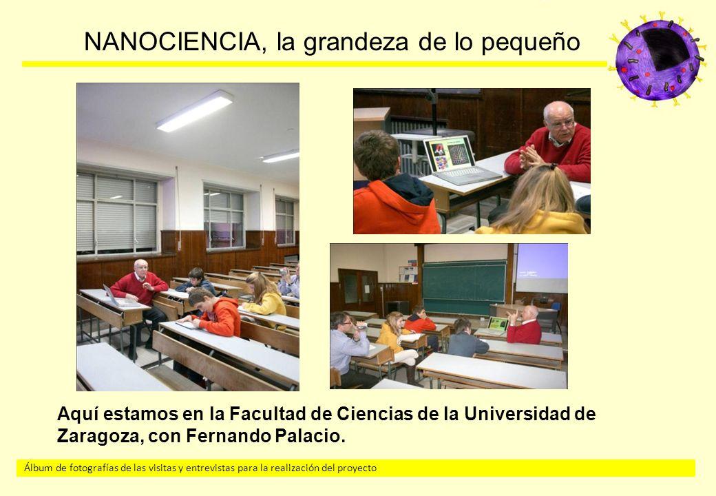Aquí estamos en la Facultad de Ciencias de la Universidad de Zaragoza, con Fernando Palacio.