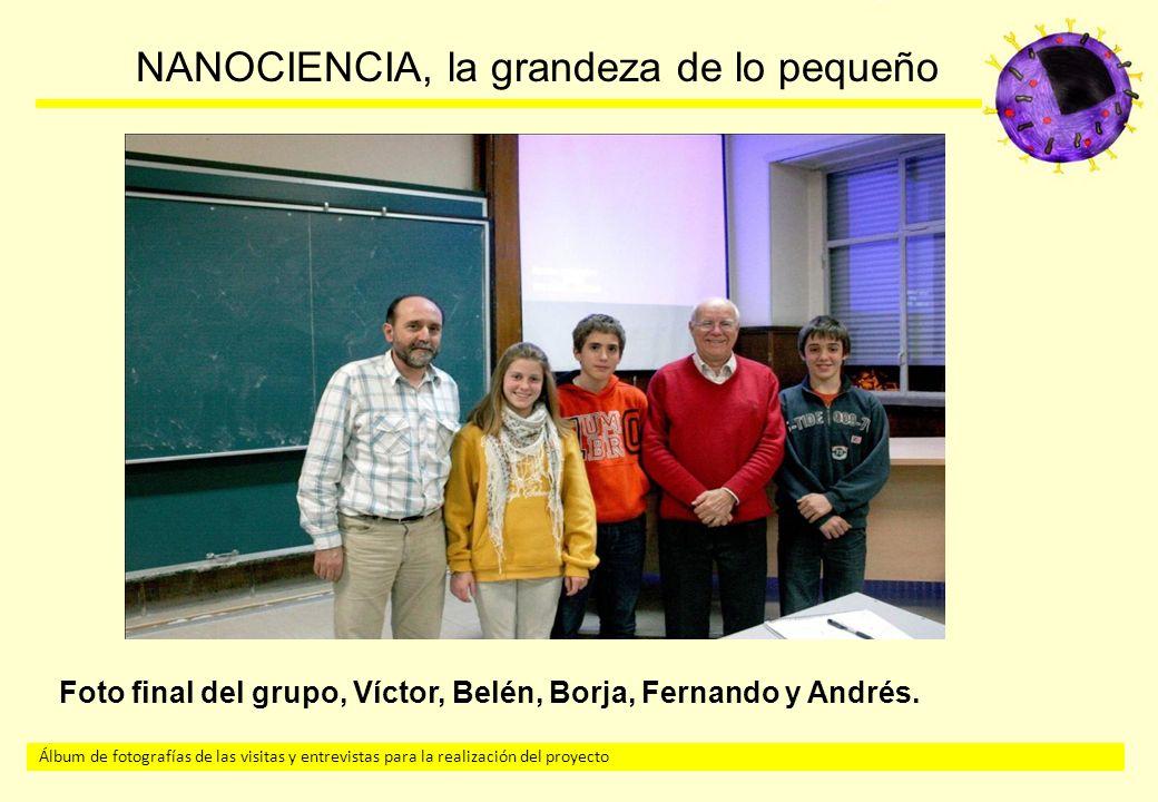 Foto final del grupo, Víctor, Belén, Borja, Fernando y Andrés.