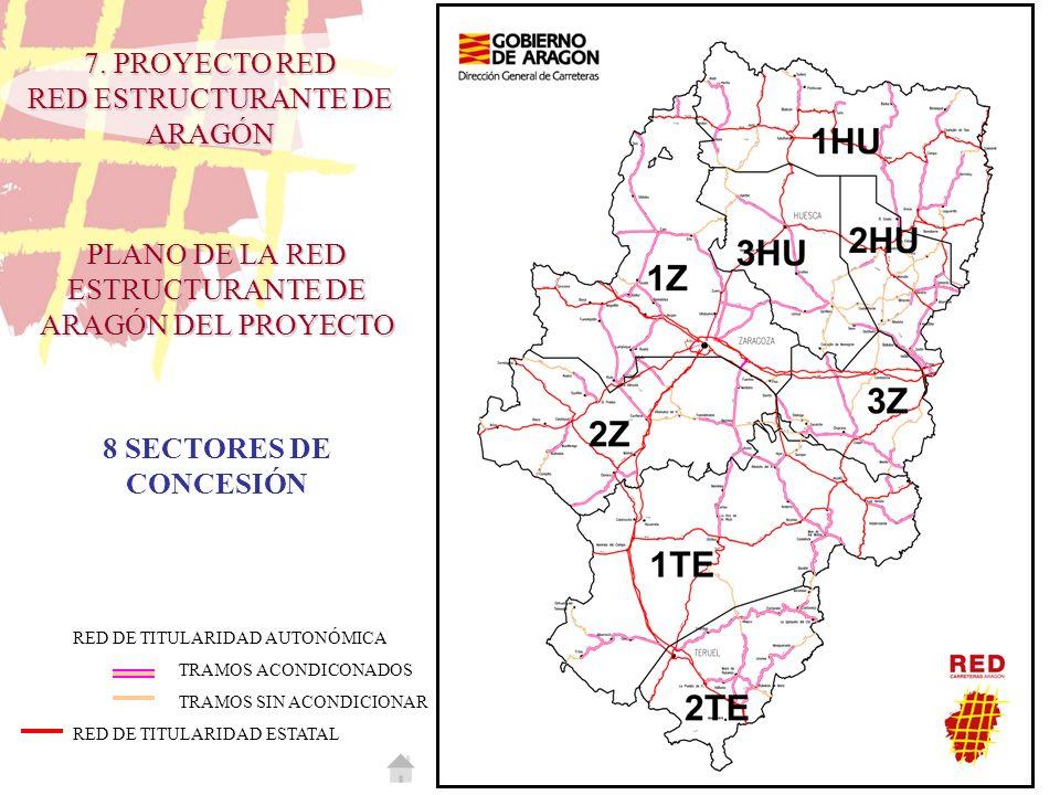 PLANO DE LA RED ESTRUCTURANTE DE ARAGÓN DEL PROYECTO