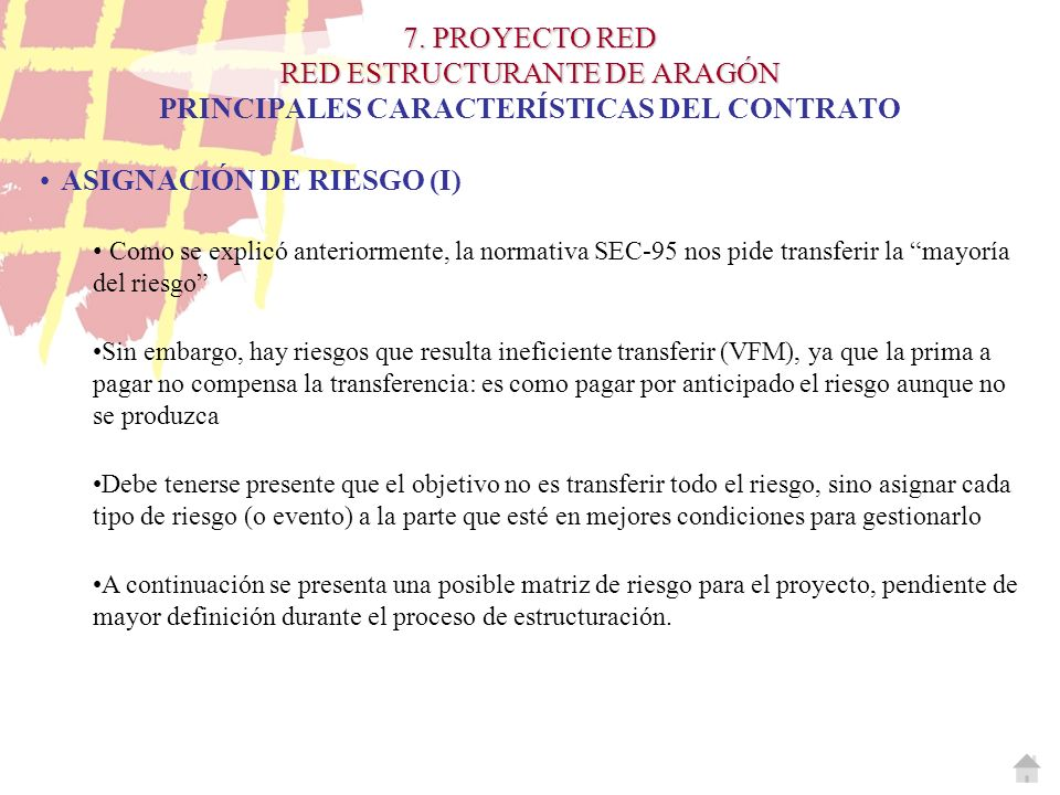 ASIGNACIÓN DE RIESGO (I)