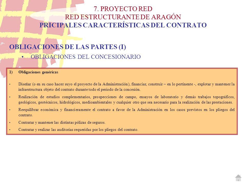 OBLIGACIONES DE LAS PARTES (I)