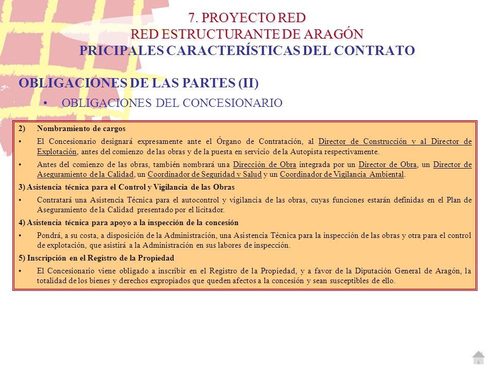 OBLIGACIONES DE LAS PARTES (II)