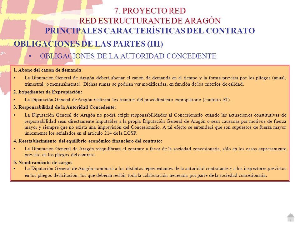 OBLIGACIONES DE LAS PARTES (III)