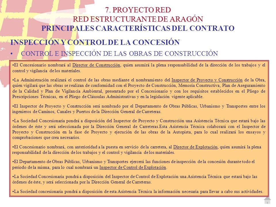 INSPECCIÓN Y CONTROL DE LA CONCESIÓN