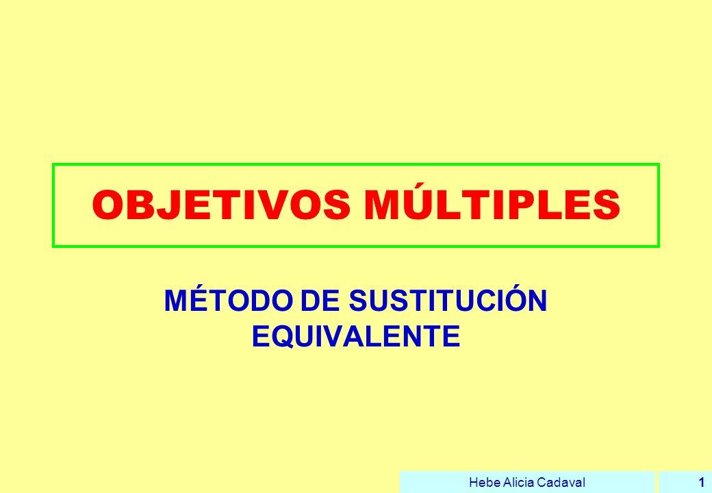 MÉTODO DE SUSTITUCIÓN EQUIVALENTE