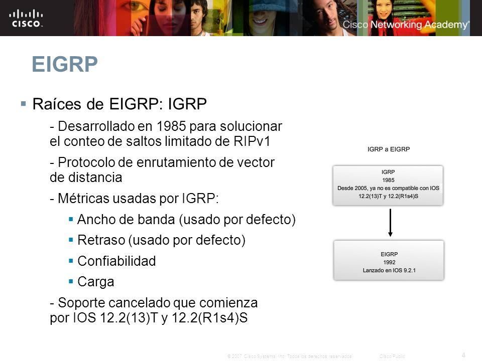 EIGRP Raíces de EIGRP: IGRP