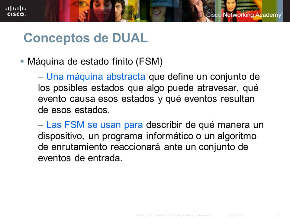 Conceptos de DUAL Máquina de estado finito (FSM)