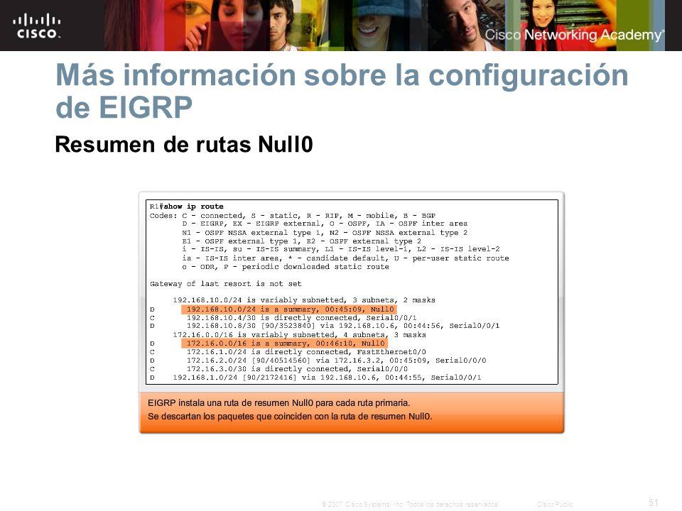 Más información sobre la configuración de EIGRP