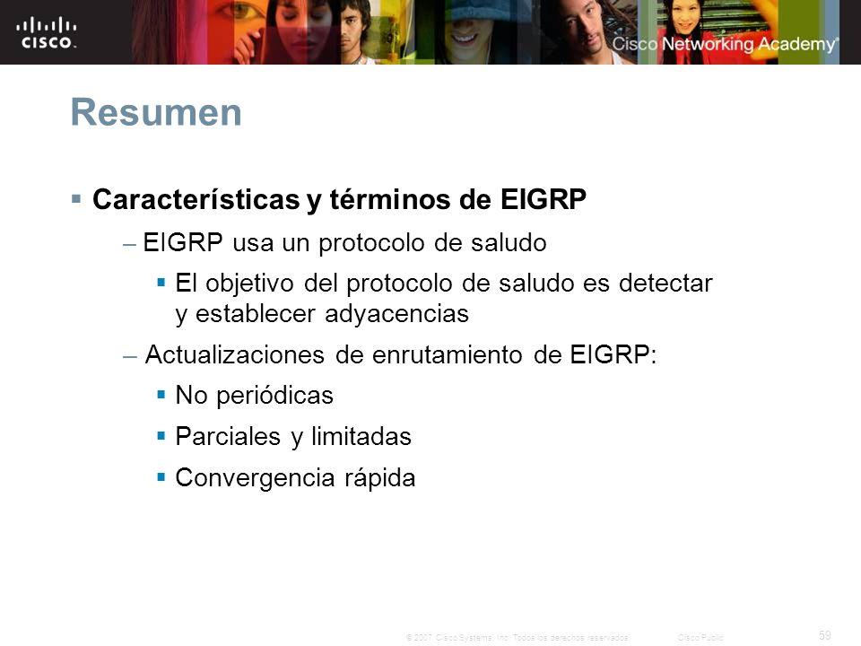Resumen Características y términos de EIGRP