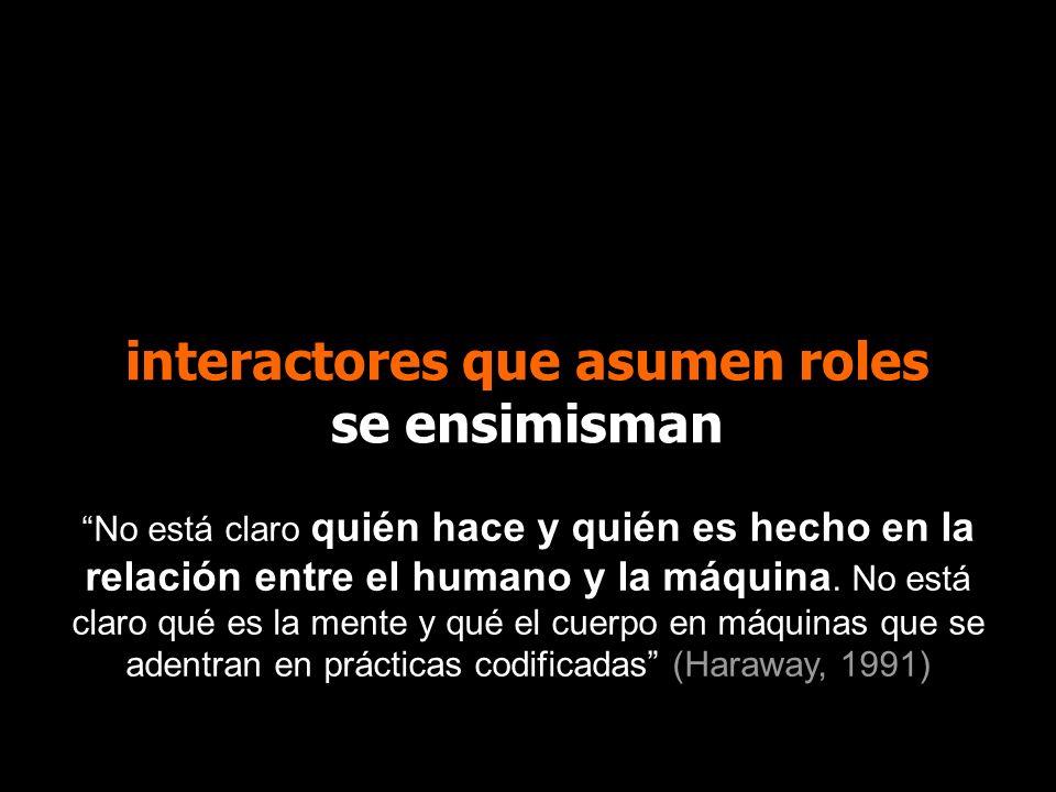 interactores que asumen roles