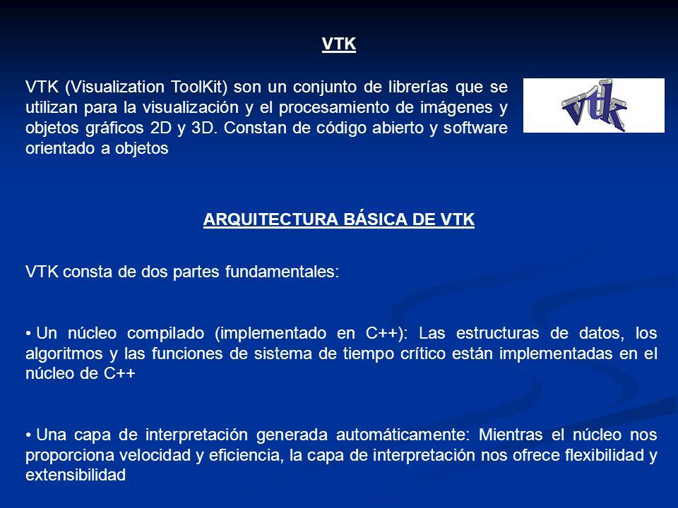 ARQUITECTURA BÁSICA DE VTK