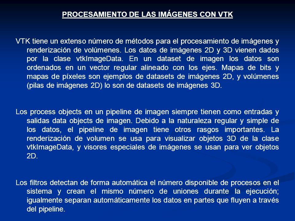 PROCESAMIENTO DE LAS IMÁGENES CON VTK