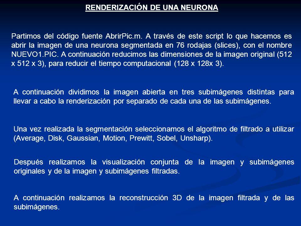 RENDERIZACIÓN DE UNA NEURONA