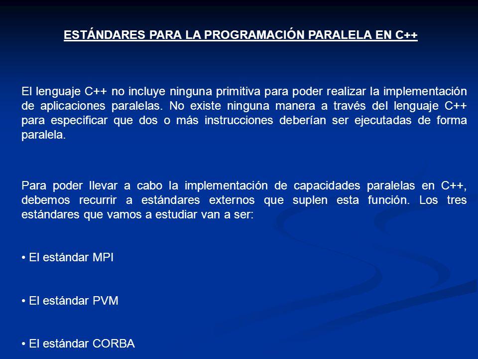 ESTÁNDARES PARA LA PROGRAMACIÓN PARALELA EN C++