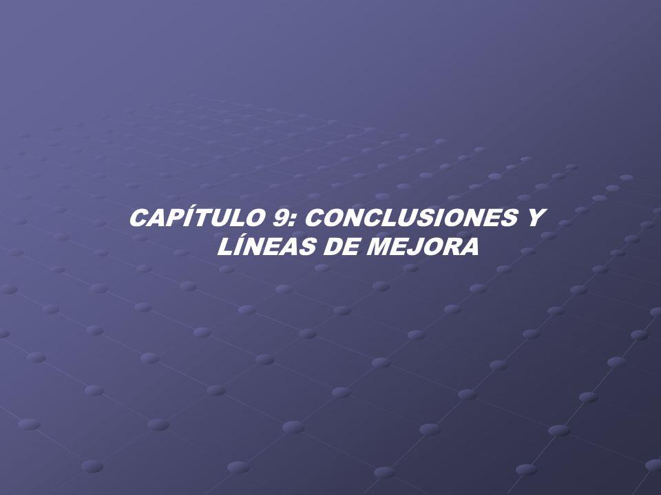 CAPÍTULO 9: CONCLUSIONES Y LÍNEAS DE MEJORA