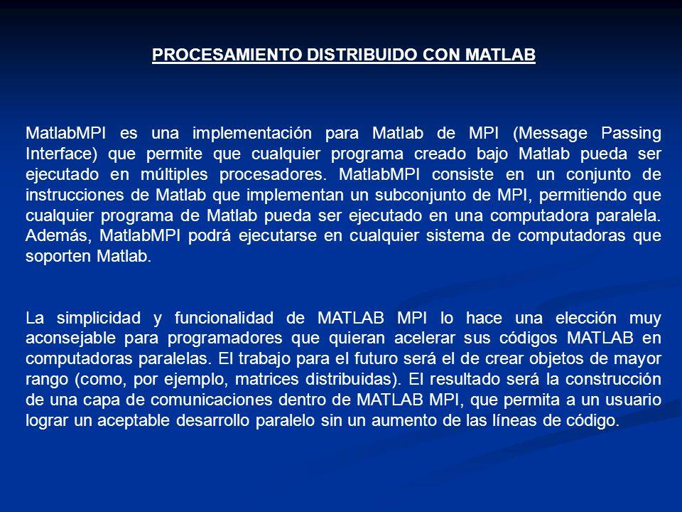 PROCESAMIENTO DISTRIBUIDO CON MATLAB