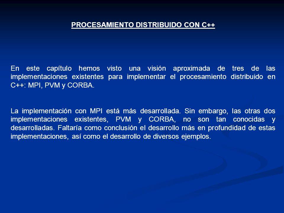 PROCESAMIENTO DISTRIBUIDO CON C++