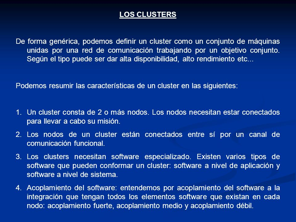 LOS CLUSTERS