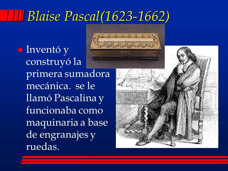 Blaise Pascal(1623-1662)