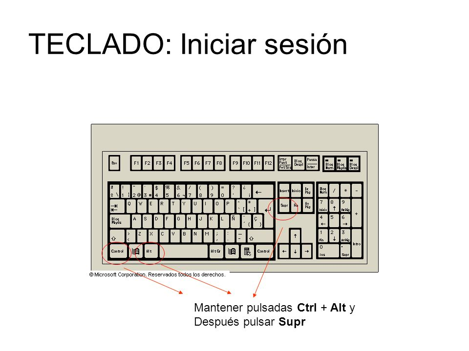 TECLADO: Iniciar sesión