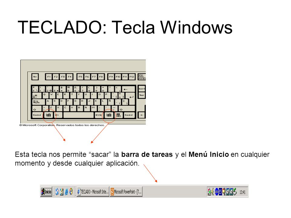 TECLADO: Tecla Windows