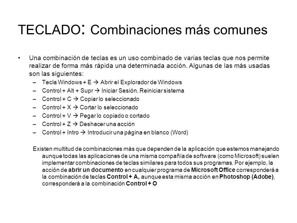 TECLADO: Combinaciones más comunes