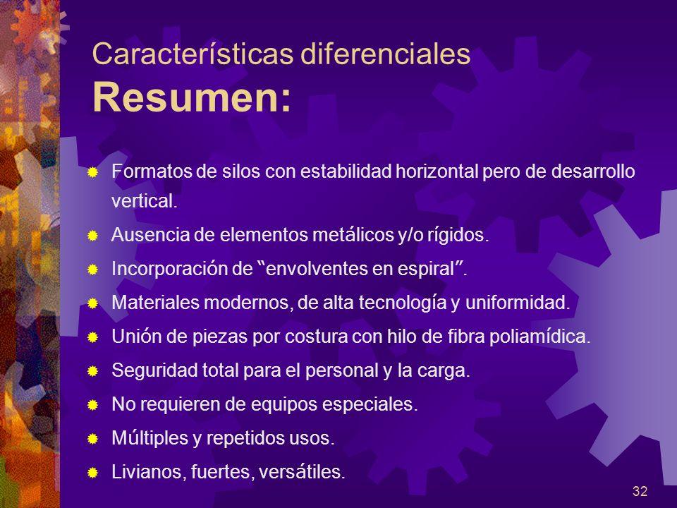 Características diferenciales Resumen: