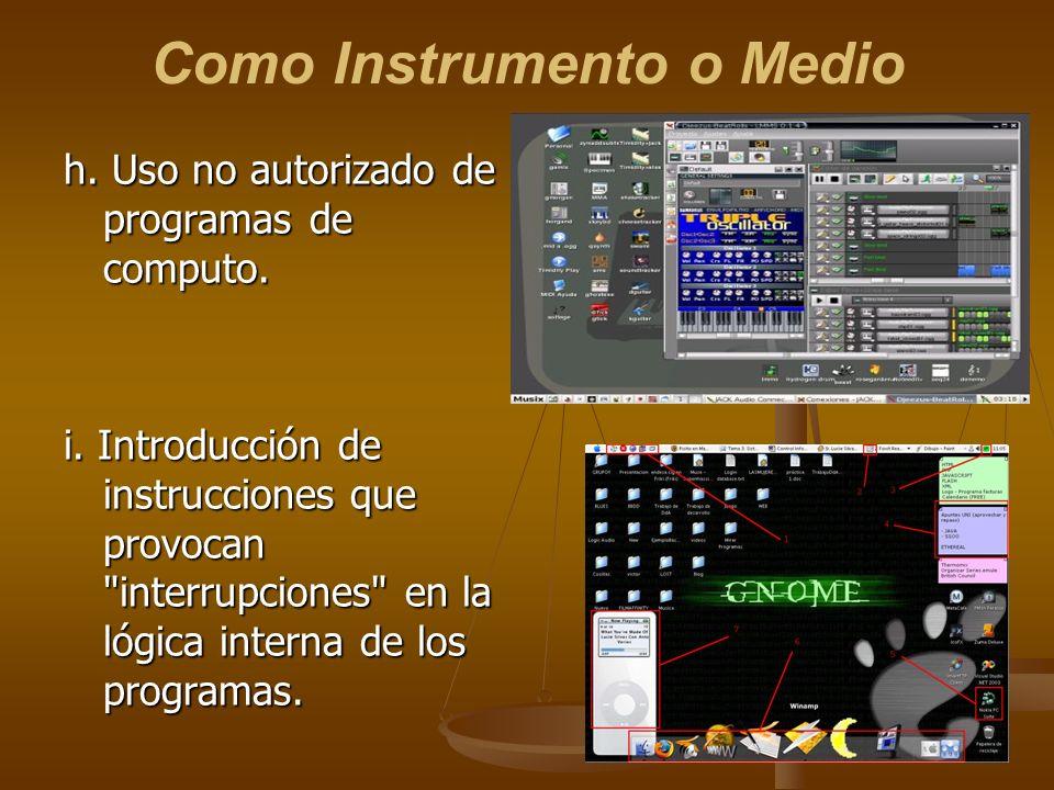 Como Instrumento o Medio