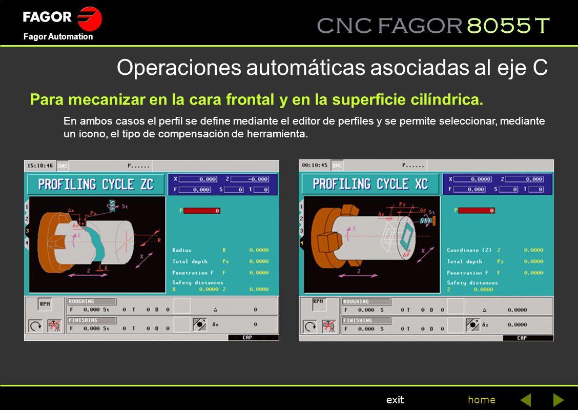 Operaciones automáticas asociadas al eje C