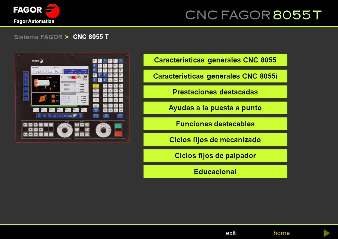 Características generales CNC 8055