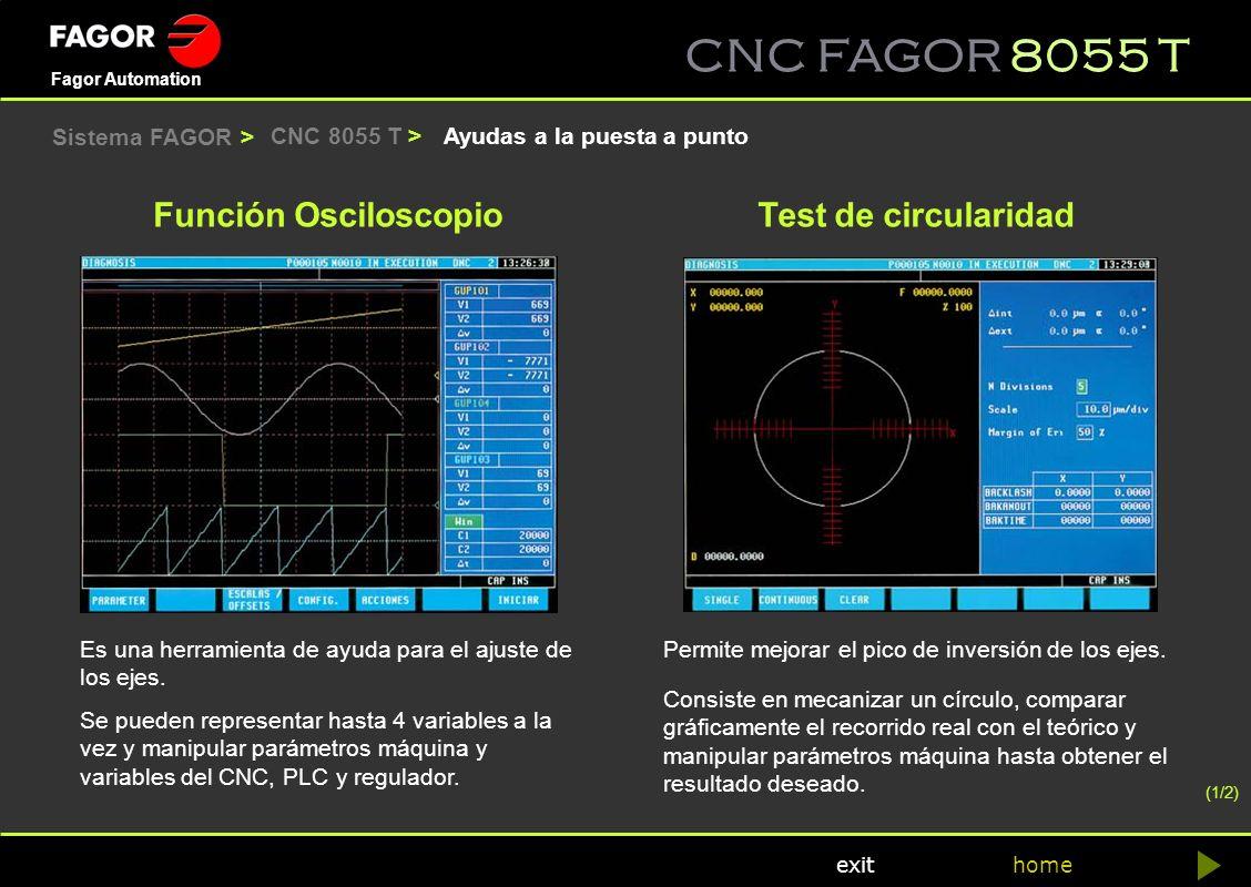 Función Osciloscopio Test de circularidad