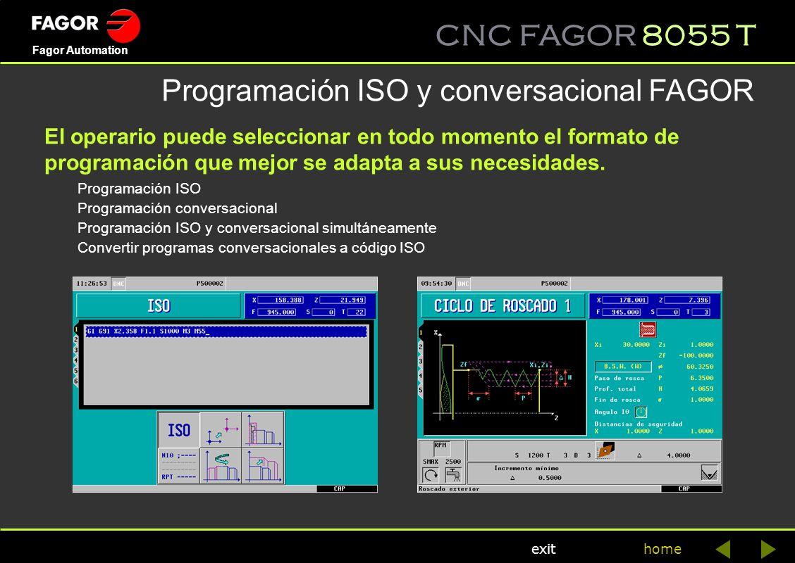 Programación ISO y conversacional FAGOR