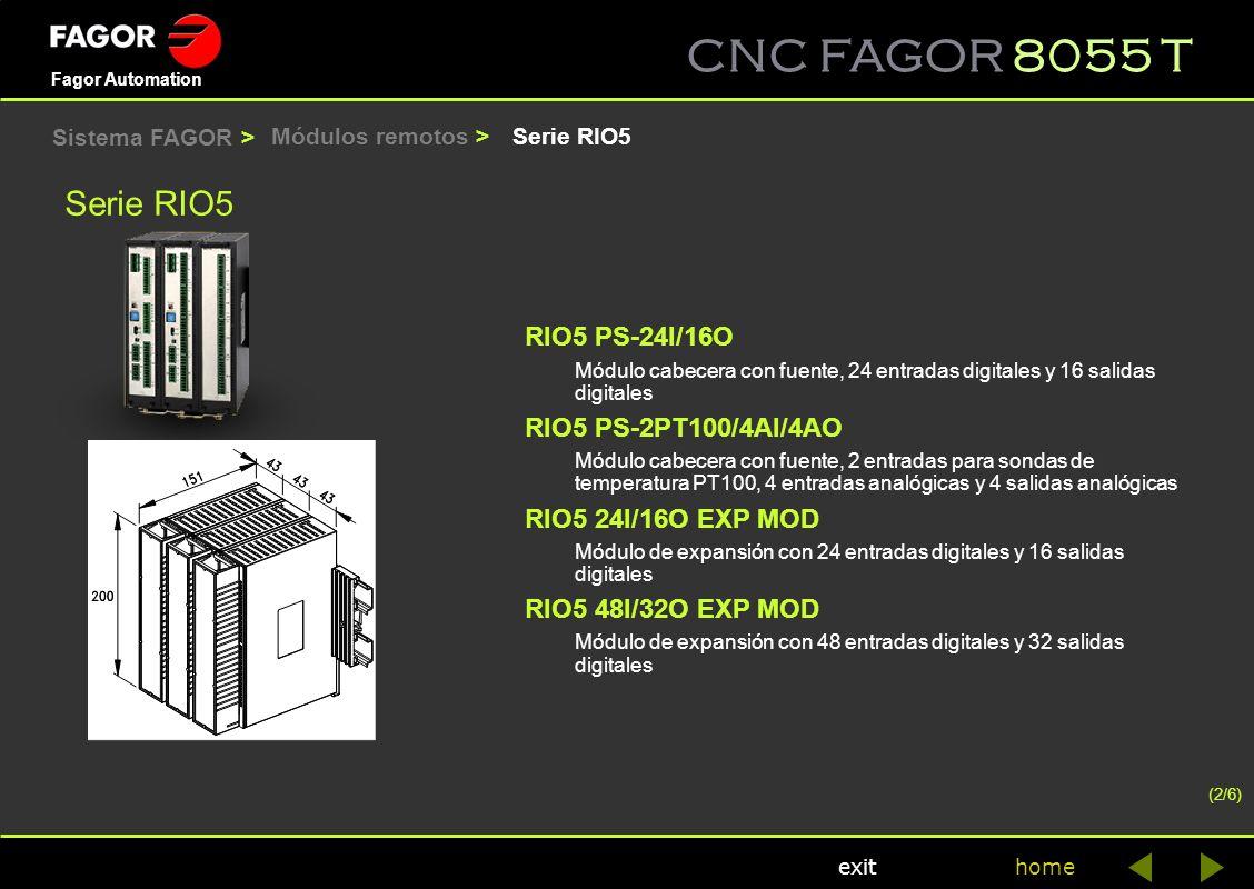Serie RIO5 RIO5 PS-24I/16O RIO5 PS-2PT100/4AI/4AO RIO5 24I/16O EXP MOD
