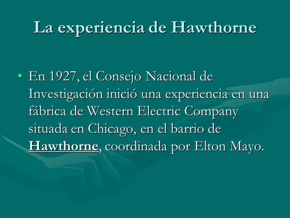 La experiencia de Hawthorne