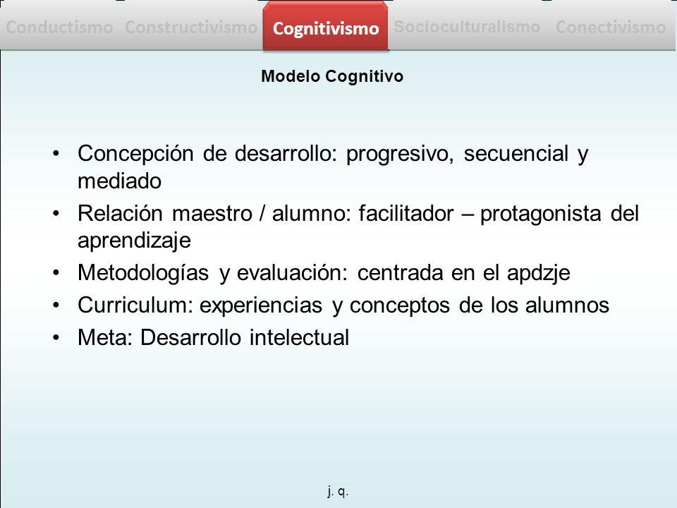 Concepción de desarrollo: progresivo, secuencial y mediado