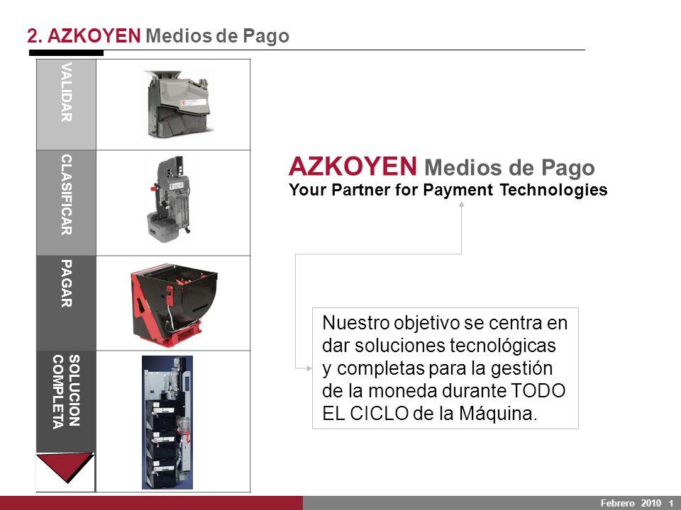 LA SEGURIDAD FACILITAR EL DISEÑO 2. AZKOYEN Medios de Pago