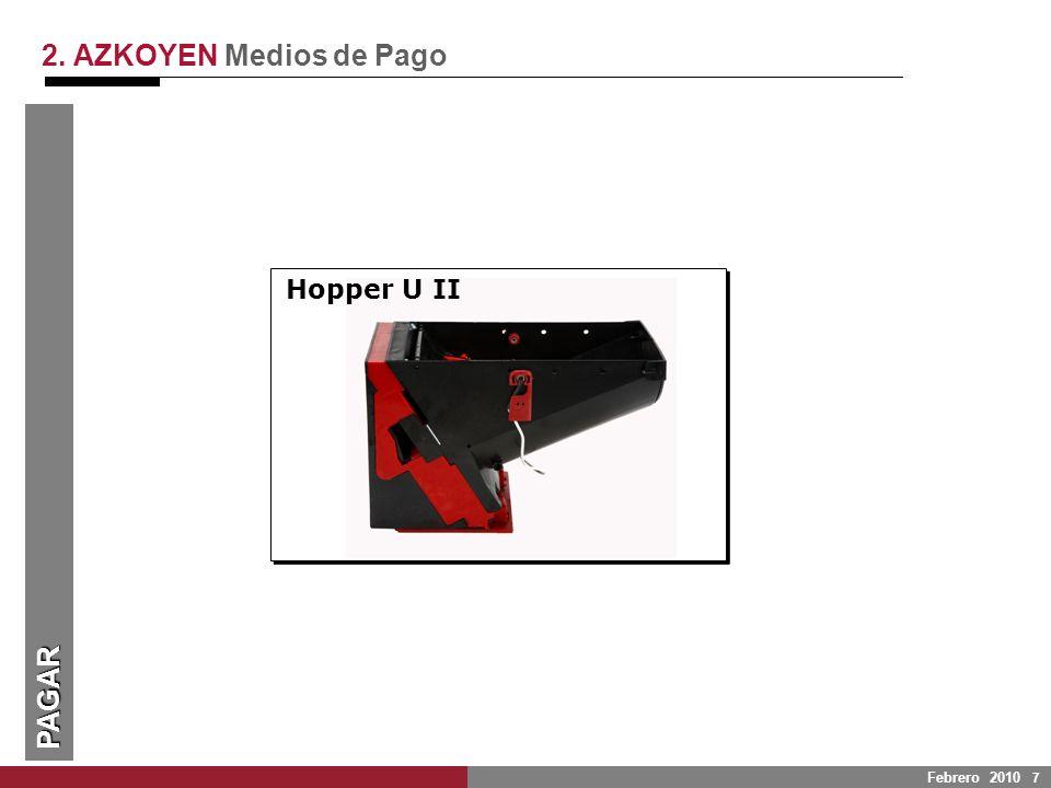 2. AZKOYEN Medios de Pago PAGAR Hopper U II UNIVERSALIDAD: