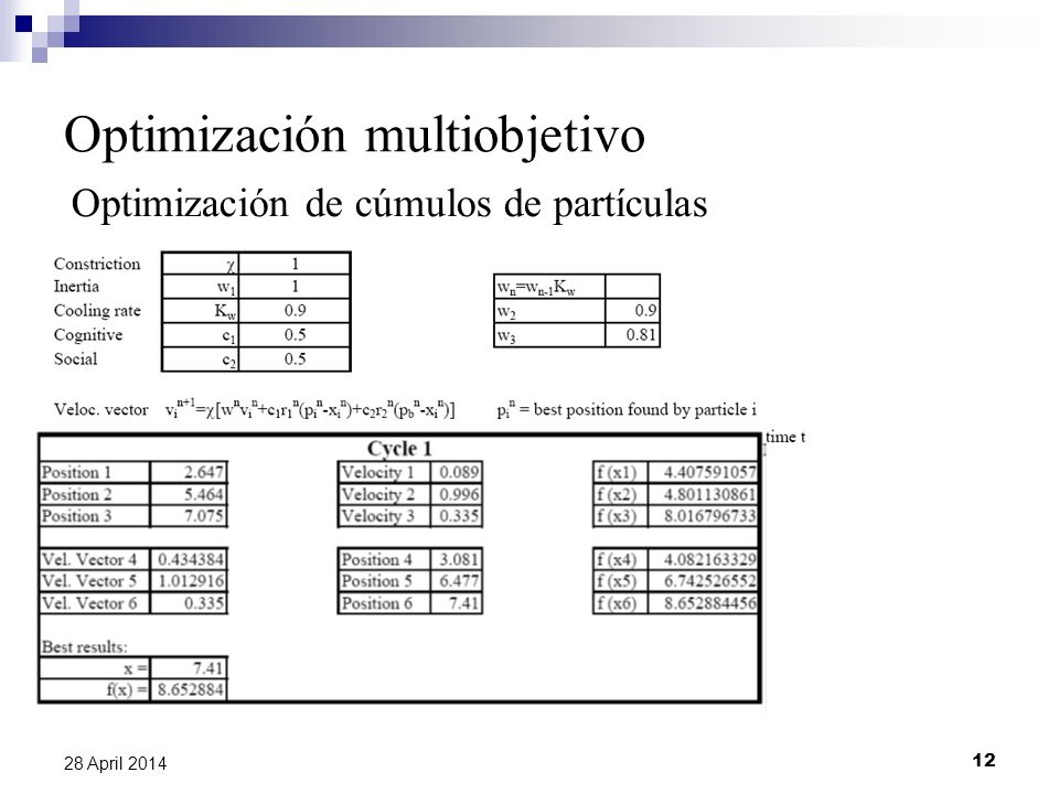 Optimización multiobjetivo