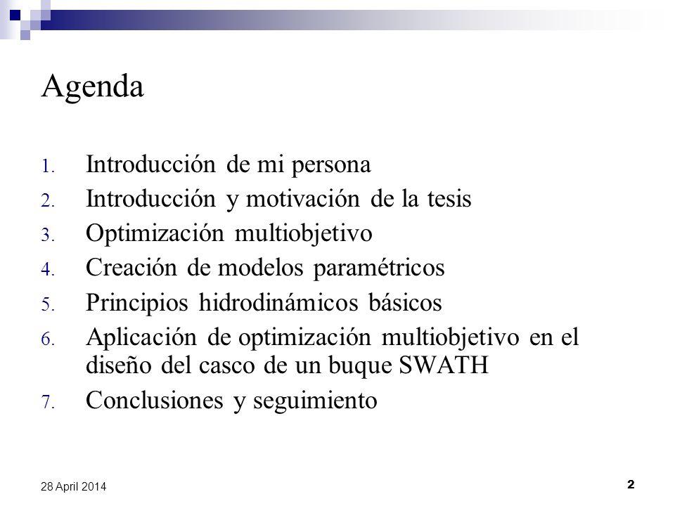 Agenda Introducción de mi persona