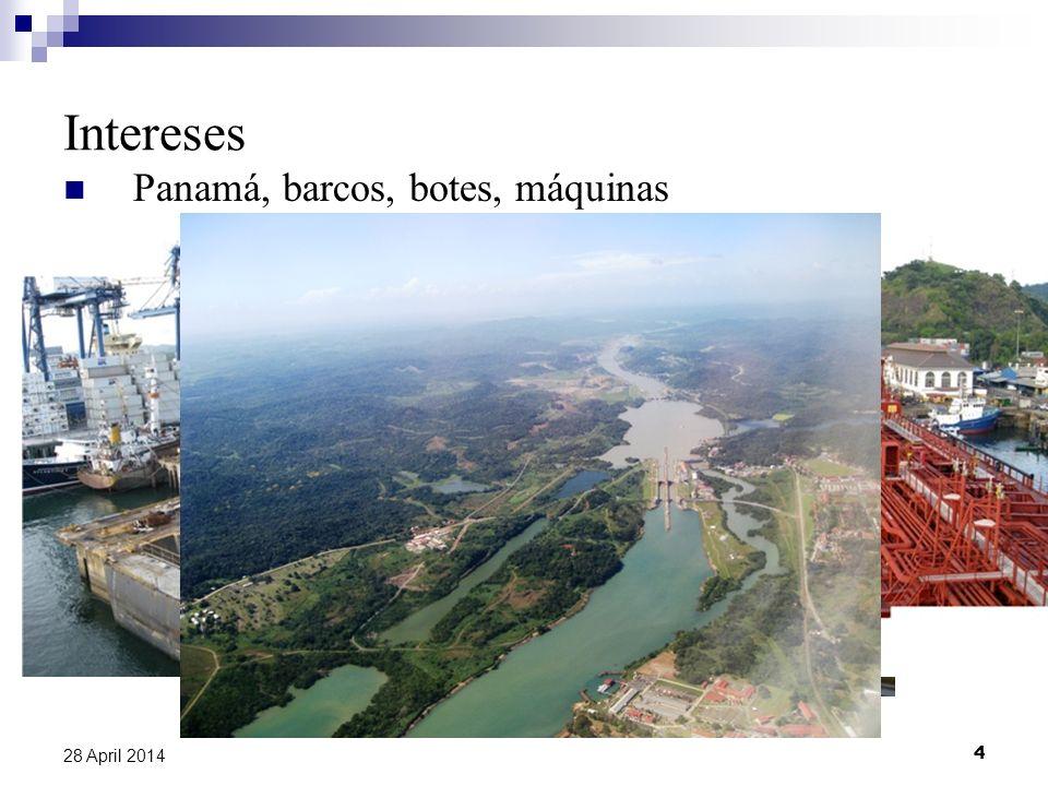 Intereses Panamá, barcos, botes, máquinas