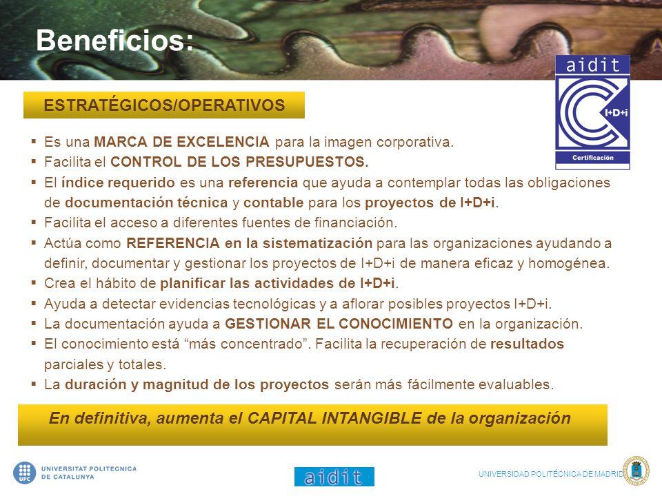 Beneficios: ESTRATÉGICOS/OPERATIVOS