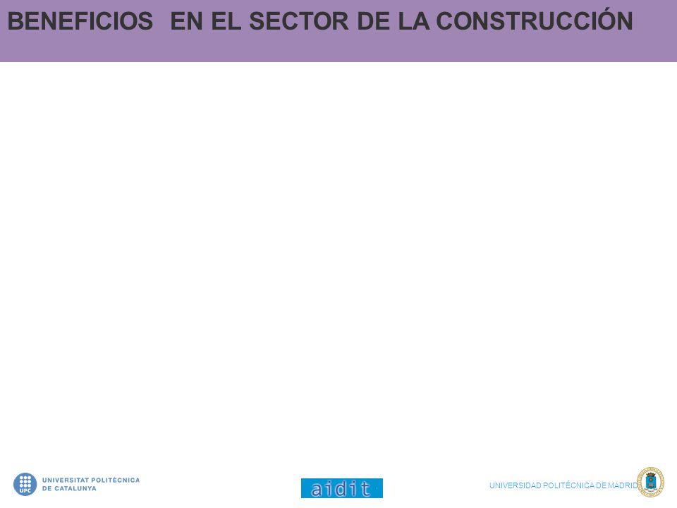 BENEFICIOS EN EL SECTOR DE LA CONSTRUCCIÓN