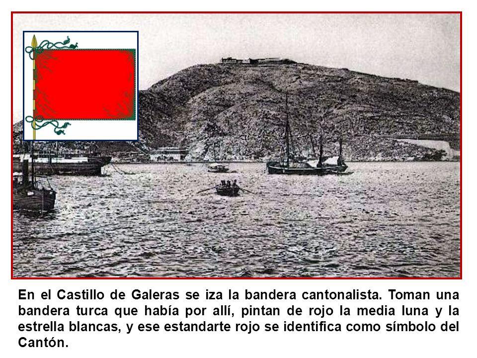 En el Castillo de Galeras se iza la bandera cantonalista